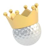 Golf ball in the crown isolated Royalty Free Stock Photo