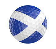 Golf ball 3D render with flag of Scotland, isolated on white Stock Image
