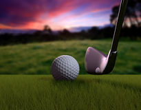 Golf ball. 3d rendered objects on photography Stock Photos
