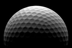 Golf ball in the dark Royalty Free Stock Photography