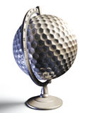 Golf ball desktop globe conceptual image Royalty Free Stock Photography