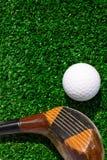 Golf Ball and driver Stock Photos