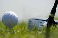 Golf Ball and Driver 2 Royalty Free Stock Image