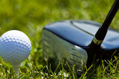 Golf Ball and Driver 3 Stock Photography