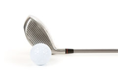 Golf Ball and Driver Royalty Free Stock Images