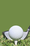 Golf Ball and Driver Royalty Free Stock Photography