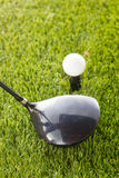 Golf ball and driver Stock Image