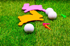 Golf ball on Easter holiday Royalty Free Stock Photo