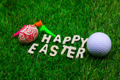 Golf ball on Easter holiday Stock Photos