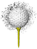Golf ball exploding Stock Photo