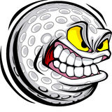 Golf ball Face Vector Image Royalty Free Stock Photos
