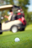 Golf ball on fairway Stock Photos