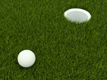 Golf ball on the field Stock Image