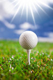 Golf ball on field Stock Photos