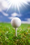 Golf ball on field Stock Photos