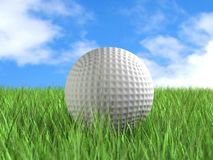 Golf ball on field Stock Images