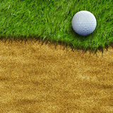Golf ball on field. Golf ball on grass field Royalty Free Stock Photo