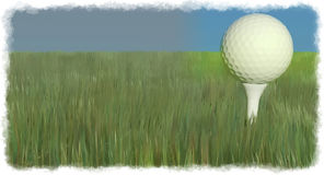 Golf ball in a field Stock Image