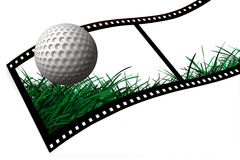 Golf Ball film strip Stock Photography