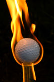 Golf Ball On Fire. Concept for hole in one...golf ball on fire. So hot it's even melting...success Stock Photo