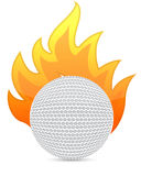 Golf Ball in fire illustration Stock Images
