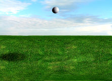 Golf Ball Flying Royalty Free Stock Photo