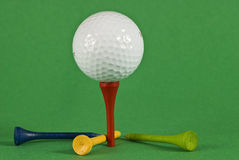 Golf Ball With Four Tees Royalty Free Stock Photo