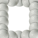 Golf ball frame Stock Images