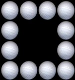 Golf ball frame Stock Photography