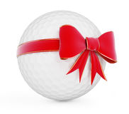 Golf ball gift. On a white background Royalty Free Stock Photos