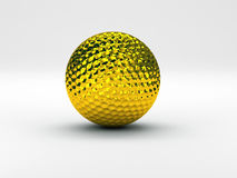 Golf ball gold. Hi res rendering of golf ball Stock Photo