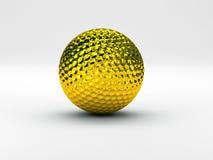 Golf ball gold. Hi res rendering of golf ball vector illustration