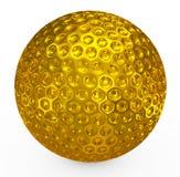 Golf ball golden Stock Image