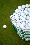 Golf Ball and golf bag Royalty Free Stock Photo