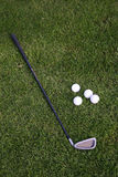 Golf-ball and golf-club on the grass. Germany. Munich Royalty Free Stock Photos