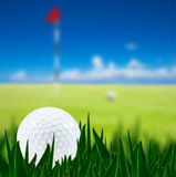Golf ball on a golf course Royalty Free Stock Photography