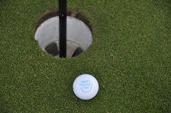 Golf Ball on Golf Green Stock Image