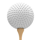 Golf ball and golf tee Stock Images