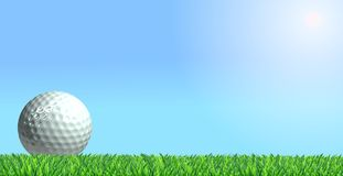 Golf ball on grass Stock Photography