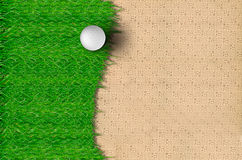 Golf Ball on the Grass Stock Photos
