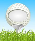 Golf ball on the grass Stock Images