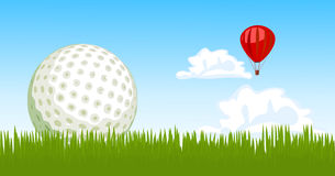 Golf ball on the grass Stock Image