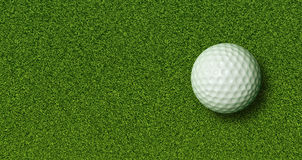 Golf Ball on Grass. Golf Ball on Green Grass with Lot of copy space Stock Photos
