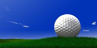 Golf ball on grass Stock Photos