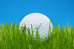 Golf ball in grass Stock Photo