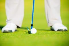 Golf Ball on the Grass Stock Photo