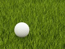 Golf ball on the grass Royalty Free Stock Images