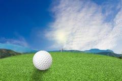 Golf ball on grass nature royalty free stock photos