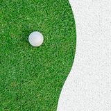 Golf Ball on the Grass for web background Stock Photos