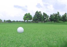 Golf ball on a green. Field Stock Photography